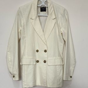 Abercrombie Fitch linen off white blazer small
